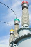 напряжение тока подстанции оборудований высокое Стоковое Фото