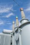 напряжение тока подстанции оборудований высокое Стоковая Фотография RF
