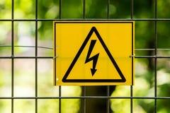 напряжение тока содержания отсутствующей опасности высокое Стоковое Изображение