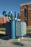 напряжение тока трансформатора наивысшей мощности Стоковое Изображение