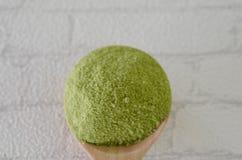 Напудренный чай matcha зеленый Стоковое фото RF