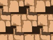 Нарисованная вручную безшовная картина masonry в космосе темной предпосылки иллюстрация штока