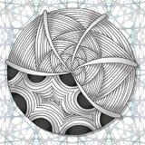 Нарисованная вручную картина Zentangle doodles Стоковая Фотография