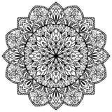 Нарисованная вручную мандала Стоковое Изображение