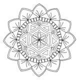 Нарисованная вручную мандала Стоковая Фотография RF