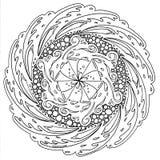 Нарисованная вручную мандала Стоковая Фотография