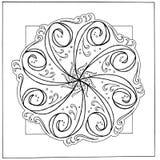 Нарисованная вручную мандала Стоковые Изображения