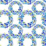 Нарисованная вручную предпосылка cornflowers акварели Стоковые Фото