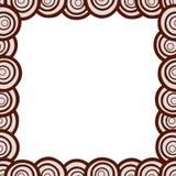 Нарисованная вручную рамка кругов Стоковая Фотография
