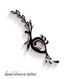 Нарисованная вручную татуировка с тенью Стоковая Фотография
