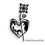 Нарисованная вручную татуировка с тенью Стоковое Изображение RF