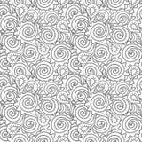 нарисованная конспектом картина руки безшовная Стоковое Изображение RF
