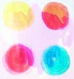 нарисованная конструкцией рука элементов Абстрактные формы чернил Стоковая Фотография