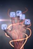 нарисованная наркоманией белизна вектора интернета иллюстрации руки Стоковое Фото