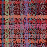 Нарисованная отметка, зигзаг stripes перекрывать, формируя современную, богато украшенную текстуру иллюстрация штока