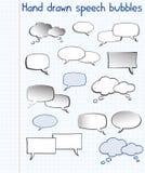 нарисованная пузырями речь руки Стоковые Фотографии RF