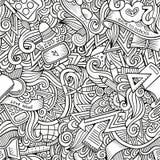 Нарисованная рука вектора шаржа Doodles на вопросе Стоковое Изображение RF