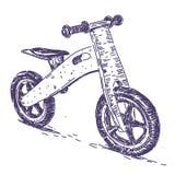 Нарисованная рука велосипеда баланса Стоковые Изображения RF