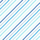 Нарисованная рука диагонали параллельная stripes безшовная картина Стоковая Фотография