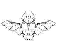 Нарисованная рука летает насекомое Стоковые Фотографии RF
