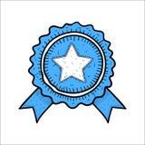 Нарисованная рука значка значка вектора голубая Стоковые Изображения RF