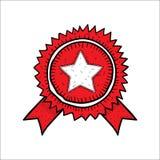 Нарисованная рука значка значка вектора красная Стоковые Фотографии RF
