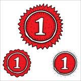 Нарисованная рука значков победителя вектора красная Стоковое Изображение