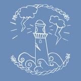 Нарисованная рука маяку Стоковая Фотография RF