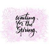Нарисованная рука помечающ буквами тему весны Стоковая Фотография RF