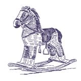 Нарисованная рука тряся лошади Стоковое Изображение