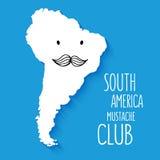 Нарисованная рука Южной Америки шаржа клуба усика потехи иллюстрация вектора