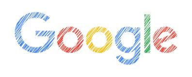 Нарисованная рука Google иллюстрация вектора