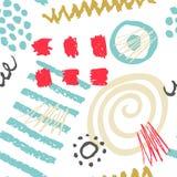 Нарисованная рука scribbles безшовная картина Стоковые Фото