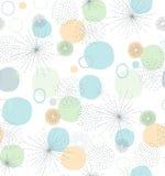 Нарисованная рукой абстрактная картина вектора элементов Чувствительные пастельные цвета Белая предпосылка Линии сложной формы и  иллюстрация штока