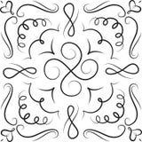 Нарисованная рукой белизна черноты орнамента Стоковая Фотография RF