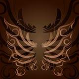 Нарисованная рукой иллюстрация бабочки zentangle вектора Декоративный абстрактный элемент дизайна doodle Стоковые Изображения
