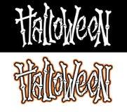 Нарисованная рукой литерность хеллоуина Стоковое Фото