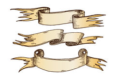 Нарисованная рукой иллюстрация вектора лент Стоковая Фотография