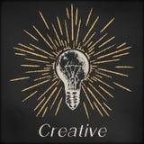 Нарисованная рукой иллюстрация эскиза вектора - творческий винтажный дизайн плаката печати одеяния футболки, реалистическая элект Стоковая Фотография