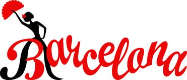 Нарисованная рукой каллиграфия щетки E основа одно Испания corrida barcelona арен иллюстрация штока