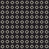 Нарисованная рукой картина черно-белого конспекта чернил безшовная текстура вектора стильная Monochrome геометрические линии кист Стоковые Изображения