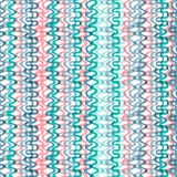 Нарисованная рукой красочная безшовная картина волны Стоковая Фотография RF