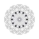 Нарисованная рукой мандала цветка для книжка-раскраски Черно-белое eth бесплатная иллюстрация