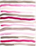 Нарисованная рукой предпосылка акварели серая розовая Стоковые Изображения RF