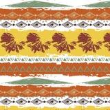 Нарисованная рукой племенная предпосылка белизны картины Стоковые Изображения RF