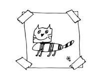 Нарисованная рукой рамка doodle Стоковое Изображение RF