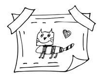 Нарисованная рукой рамка doodle Стоковые Изображения