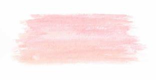 Нарисованная рукой розовая текстура акварели вектор иллюстрация штока