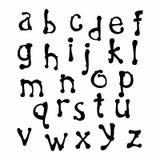 Нарисованная рукой строчная буква шрифта стоковые изображения