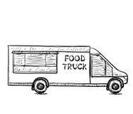 Нарисованная рукой тележка еды Стоковое Изображение